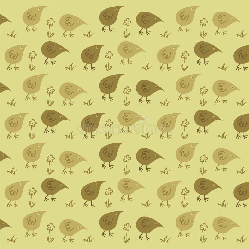 Funny Chickens stock illustration