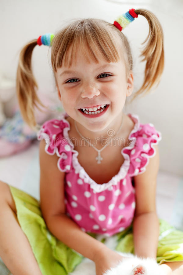 Funny child royalty free stock image