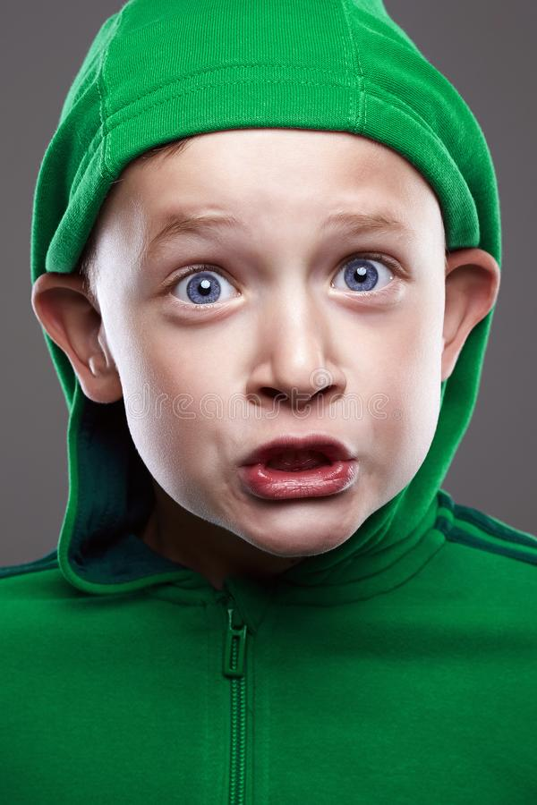 Funny child. expression little boy stock images