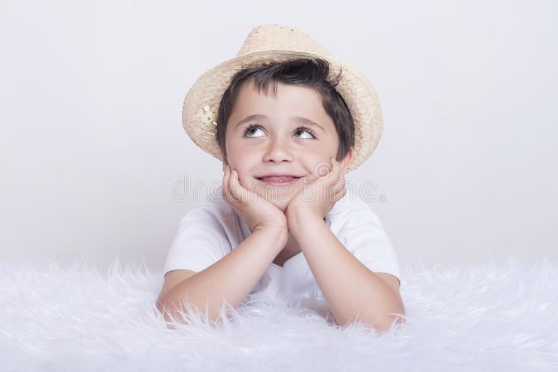 Funny child stock photography
