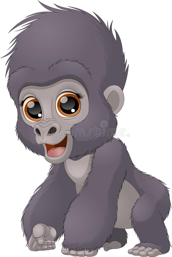 Funny child a gorilla vector illustration