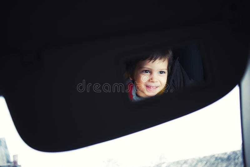 Download Funny child in mirror stock image. Image of smiling, caucasian - 20445807