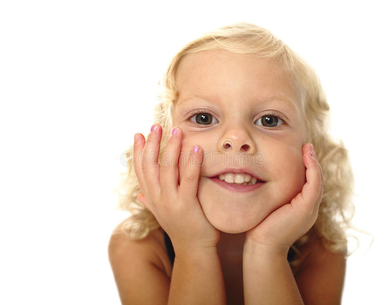 Download Funny child portrait stock image. Image of face, female - 15441909