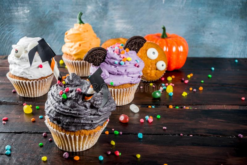 Funny children`s treats for Halloween stock photography
