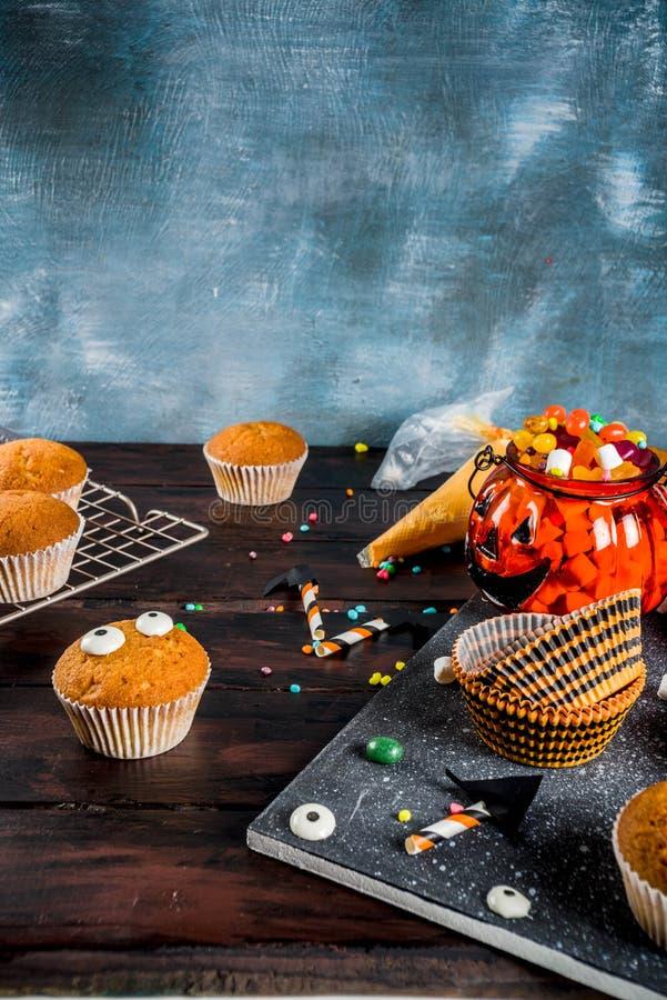 Funny children`s treats for Halloween stock image