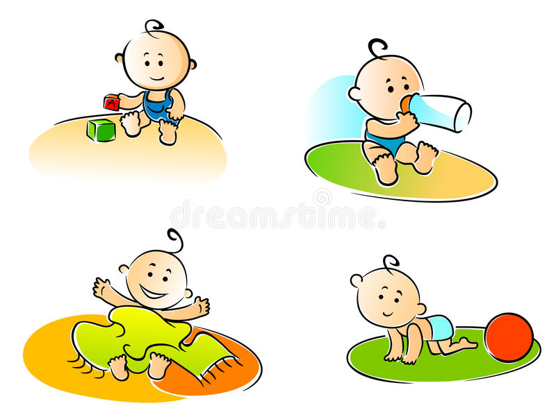 Funny childs vector illustration