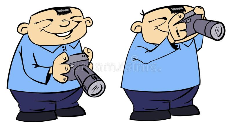 Download Funny chinese photographer stock illustration. Image of focus - 20649773