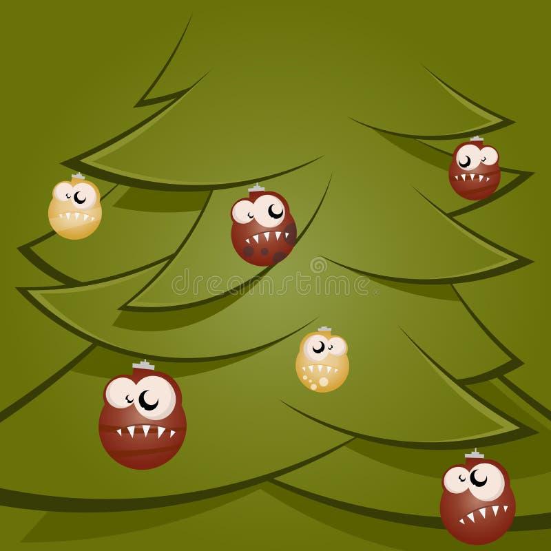 Funny Christmas Balls Stock Photo