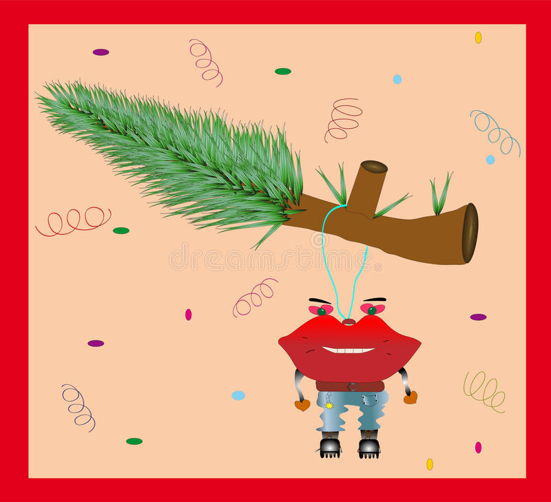Download Funny Christmas Card stock illustration. Image of paper - 17341634