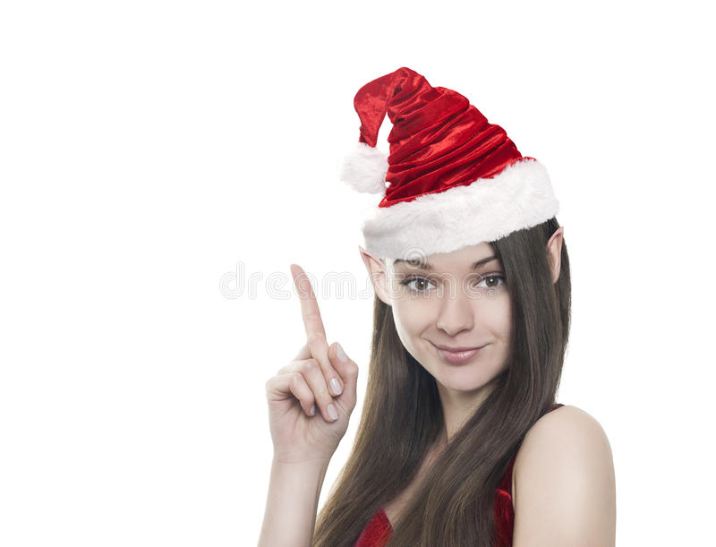 Funny elf on white stock images