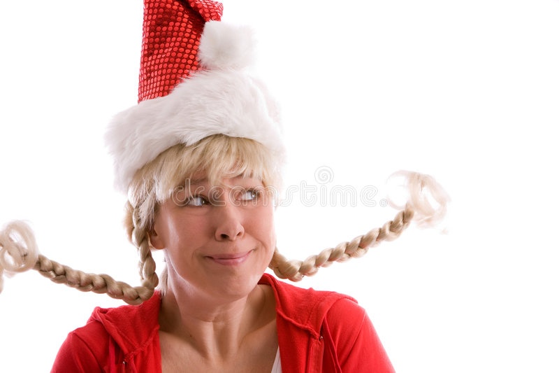Funny Christmas Girl Royalty Free Stock Photography