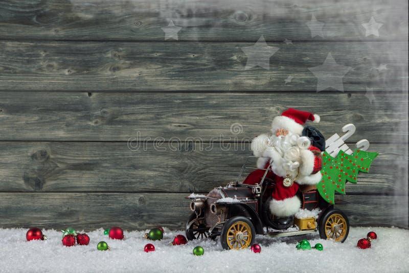 Funny Christmas Greeting Card With Santa Claus And Xmas ...
