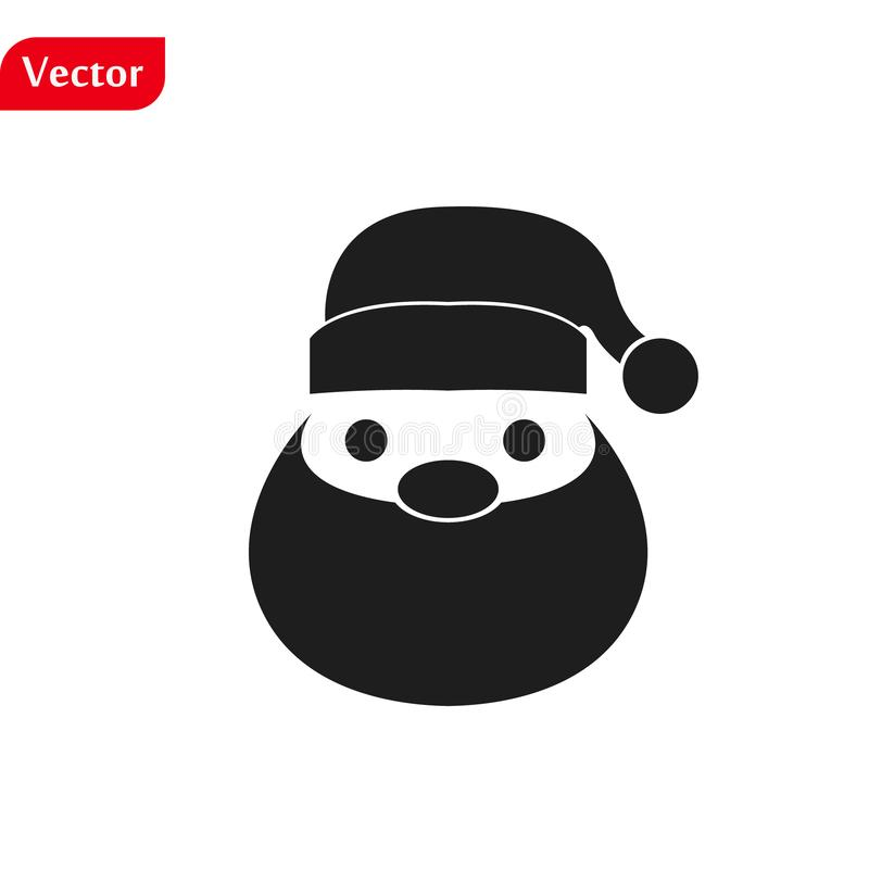 Funny Christmas greetings card Funny Santa Claus. vector illustration isolated illustration eps10 royalty free stock photos