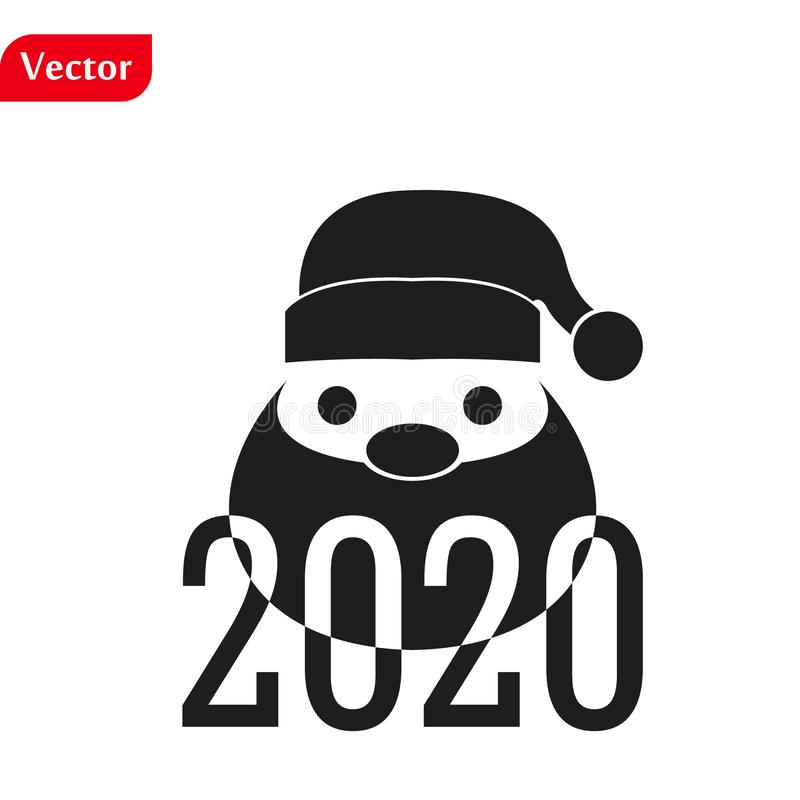 Funny Christmas greetings card Funny Santa Claus. vector illustration isolated illustration eps10 stock photos