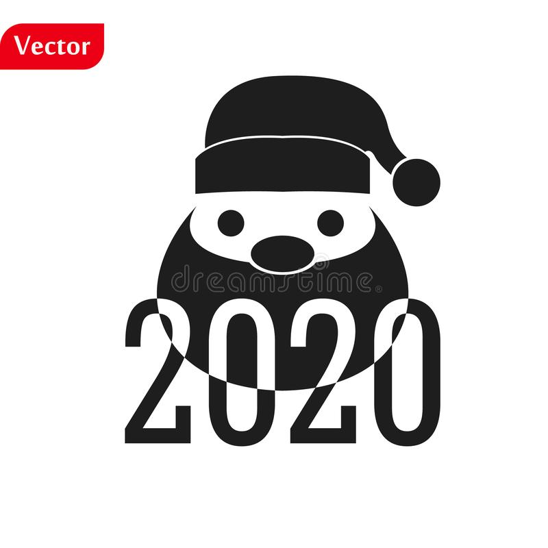 Funny Christmas greetings card Funny Santa Claus. vector illustration isolated illustration eps10 stock photo