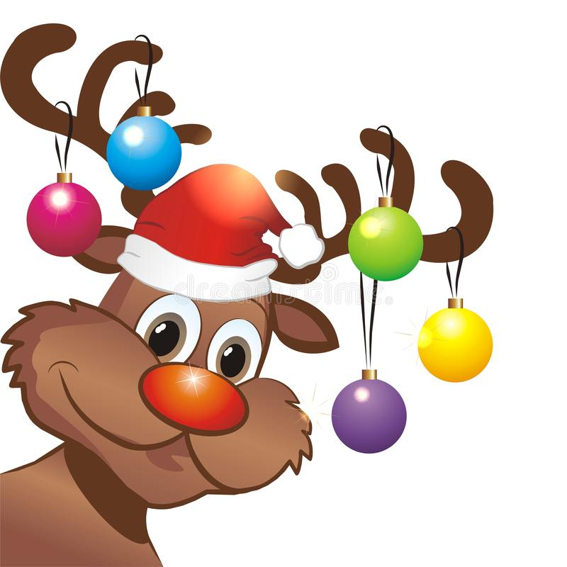 Funny Christmas Reindeer Stock Vector Image Of Celebration 45629758