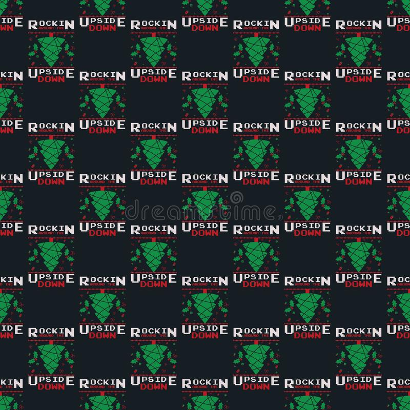 Free Funny Christmas Seamless Pattern, Graphic Print For Ugly Sweater Xmas Party, Decoration With Tree, Ornaments And Gift Royalty Free Stock Photography - 160591577