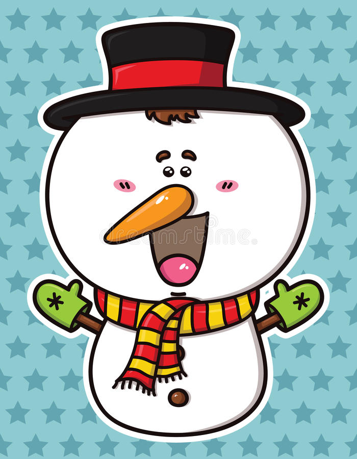 Download Funny  Christmas Snowman. Royalty Free Stock Photography - Image: 33866417
