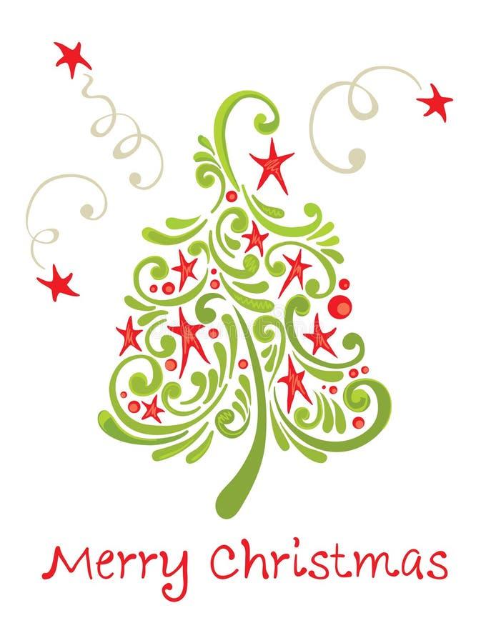 Funny christmas tree vector illustration