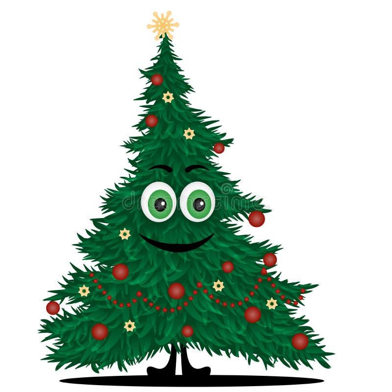 Funny christmas tree stock vector. Illustration of emotion ...