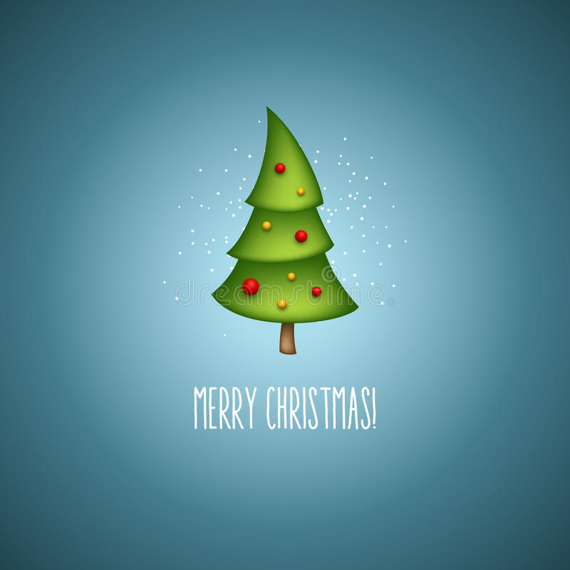 Funny christmas trees. Vector illustration vector illustration
