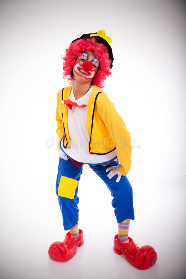 Download Funny clown stock image. Image of clothing, feather, clown - 12689183