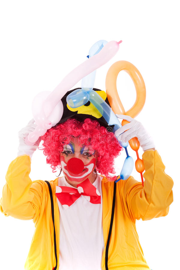Download Funny Clown stock image. Image of laughing, expression - 14100427