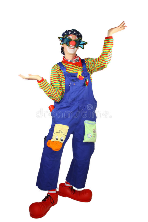 Download Funny Clown stock photo. Image of dungarees, musical - 16988050