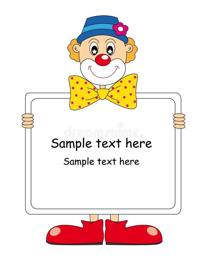 Funny clown royalty free illustration