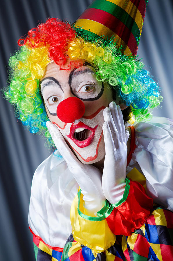 Download Funny clown stock image. Image of happy, color, entertainer - 27863855