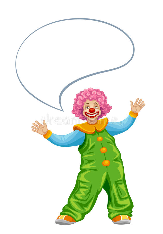 Download Funny clown stock vector. Illustration of caricature - 29095892