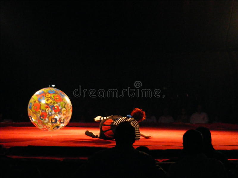 Download Funny Clown Artist Performing At Circus Editorial Image - Image: 27498960