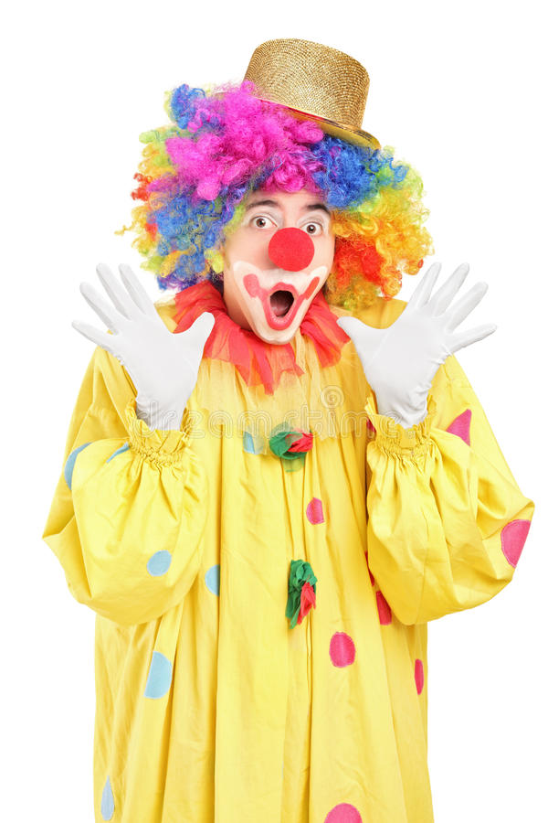 Download Funny Clown Gesturing With Hands Stock Photo - Image: 28684018