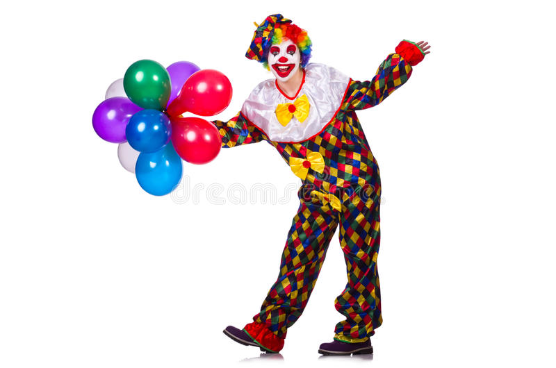 Download Funny clown stock image. Image of carnival, costume, baloons - 32221509