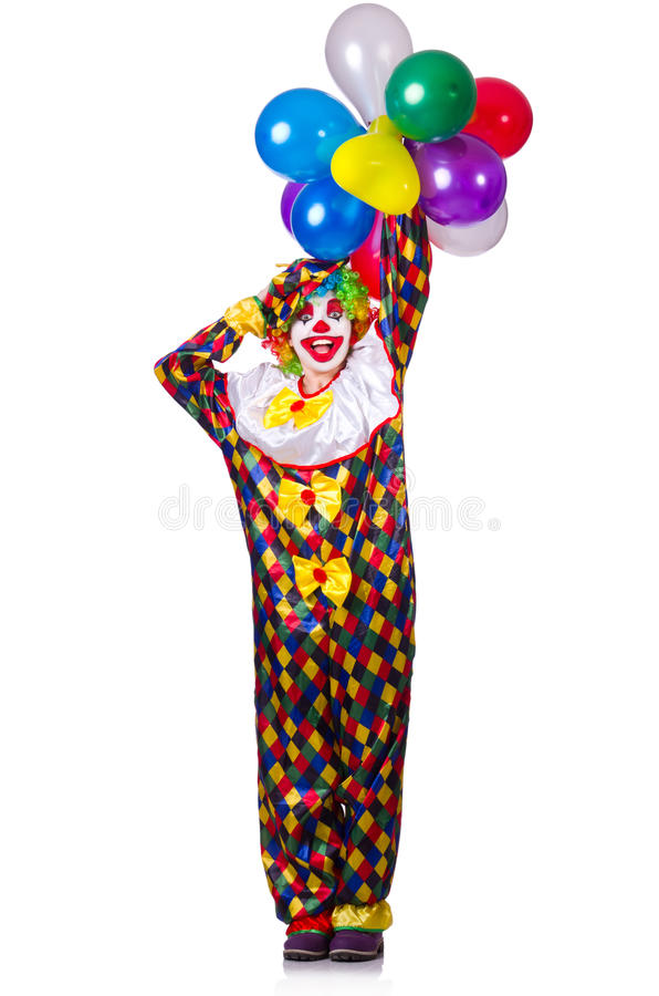 Download Funny clown stock image. Image of face, happy, carnival - 32480643