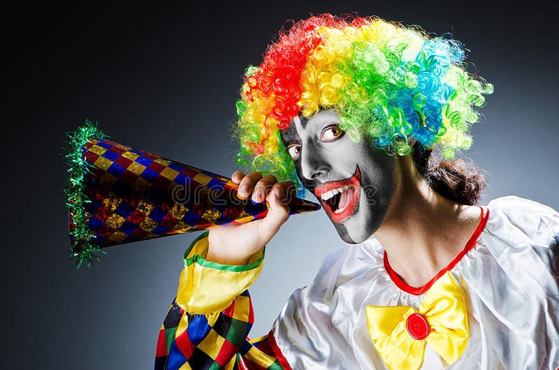 Download Funny clown in studio stock photo. Image of circus, entertainer - 26271474