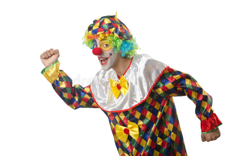 Download Funny clown on  white stock image. Image of portrait - 26480169