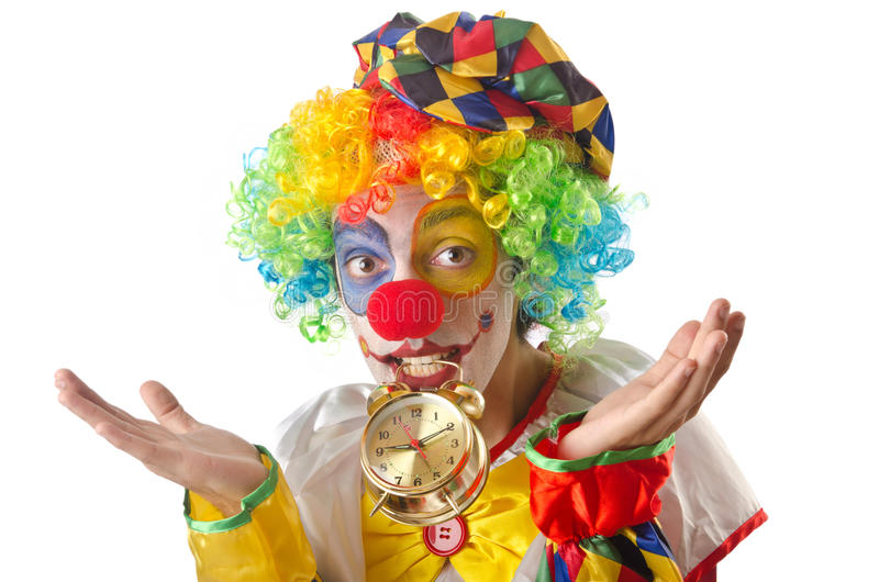 Download Funny clown on  white stock image. Image of holiday, party - 26630007