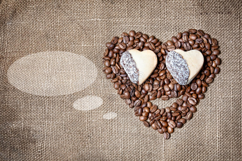 Funny Coffee Face Stock Photo