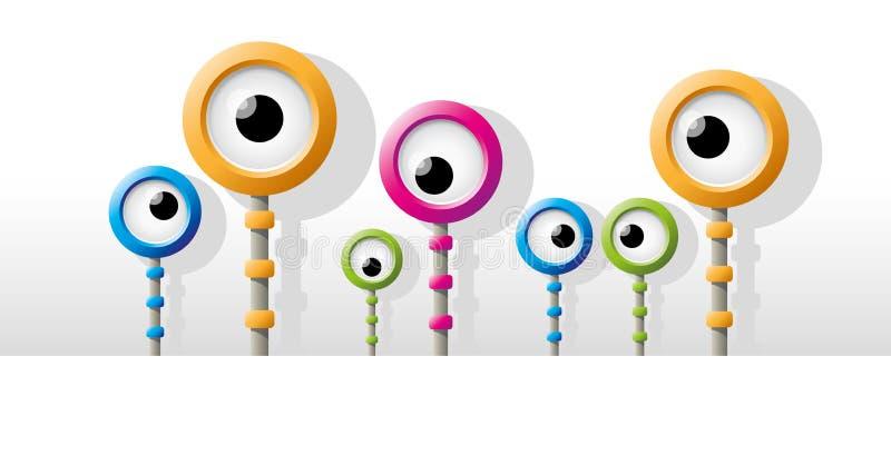 Funny colorful robot eye royalty free illustration