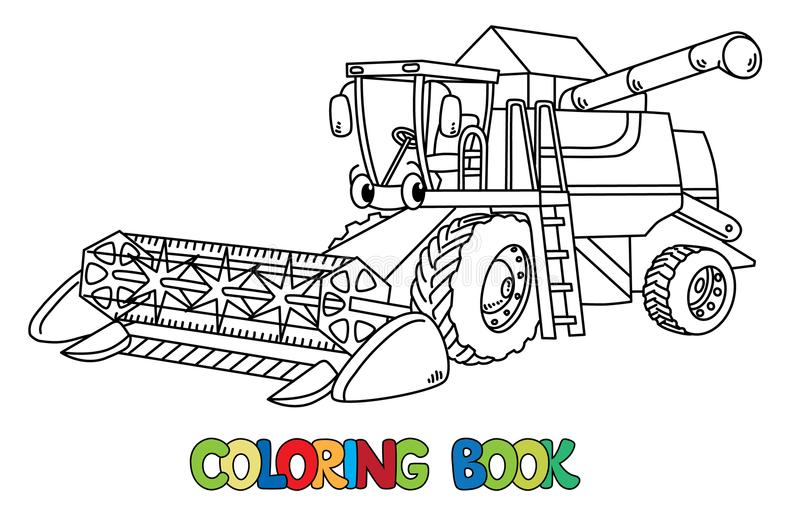 combine harvester with coloring book stock