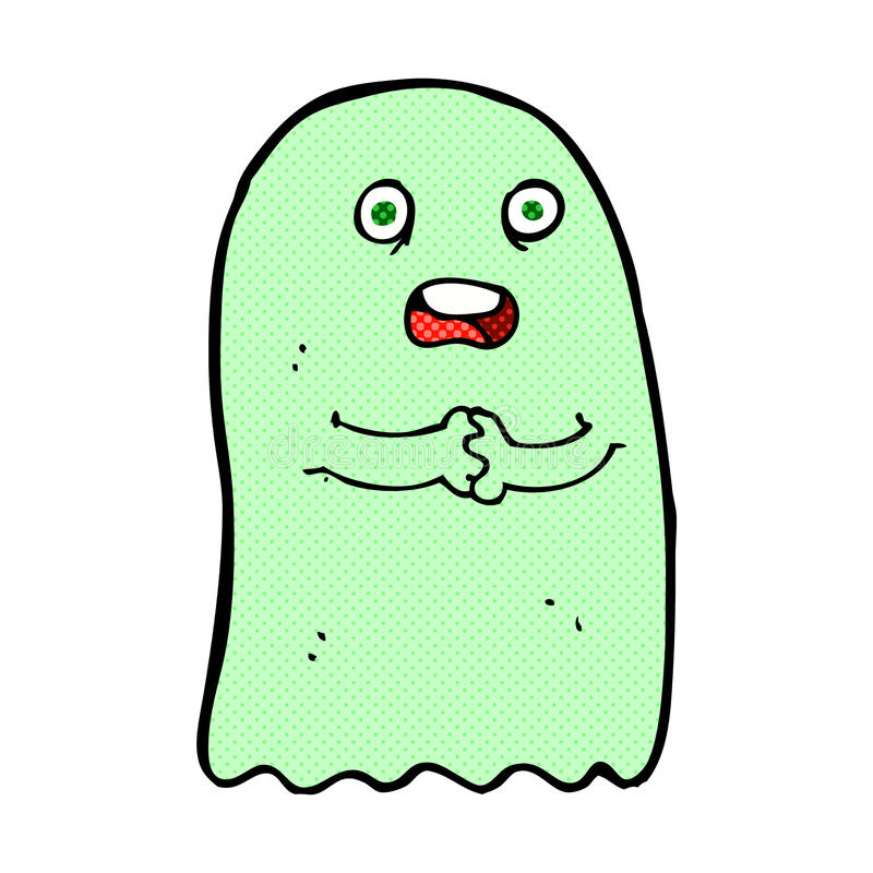 funny comic cartoon ghost stock illustration