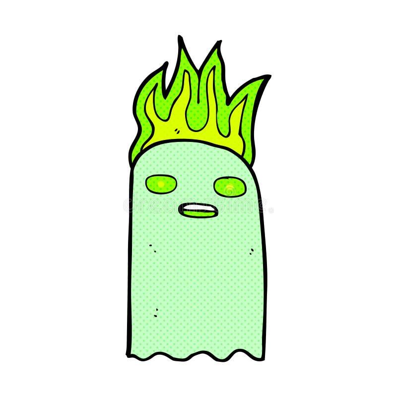 funny comic cartoon ghost royalty free illustration