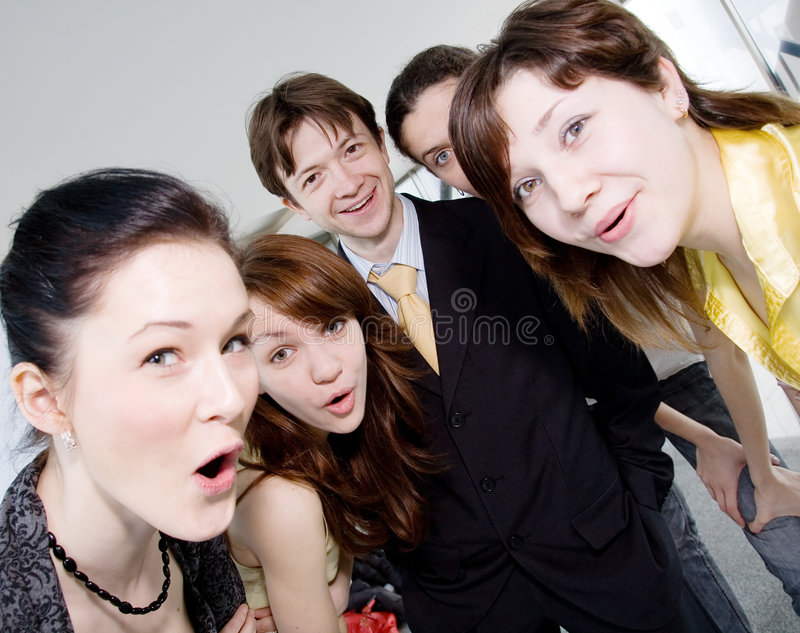 Download Funny Company Are Surprising Stock Photo - Image: 6072836