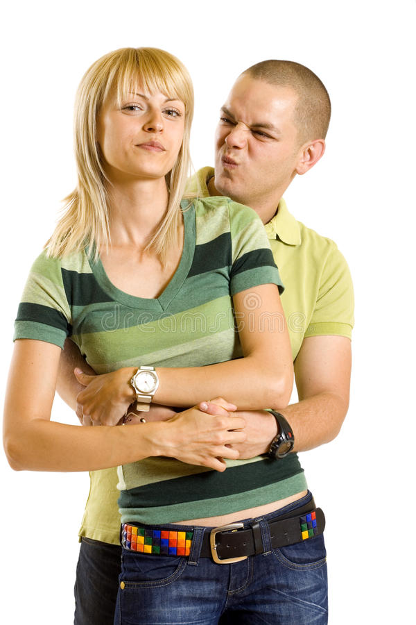 Download Funny couple stock image. Image of heterosexual, isolated - 14213183