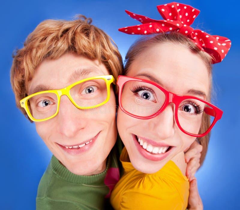 Funny couple royalty free stock photo
