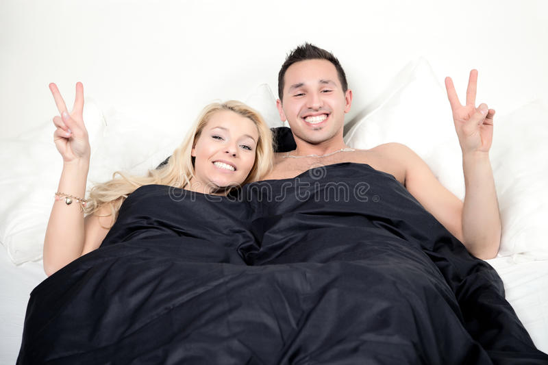 Funny couple stock image