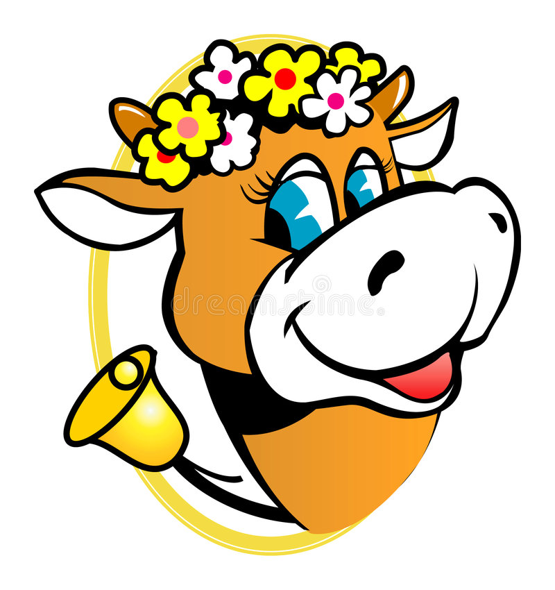 Download Funny Cow stock vector. Image of milk, dairy, agriculture - 3374976