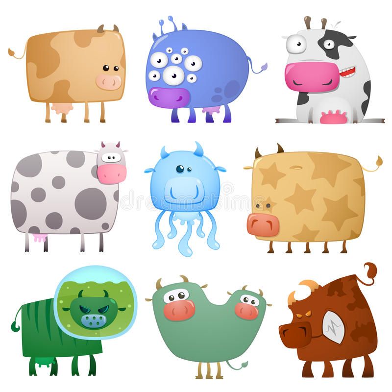 Download Funny cows stock vector. Illustration of laughing, design - 17790013