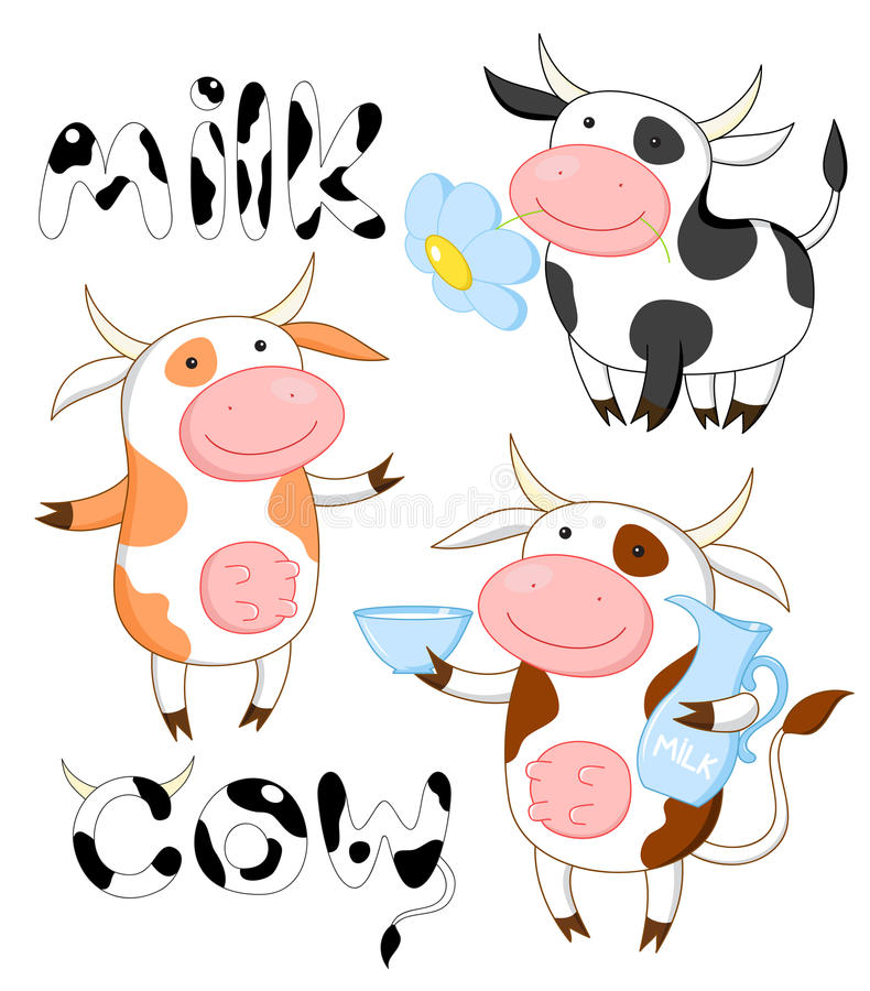 Download Funny cows stock illustration. Illustration of lactose - 20365258